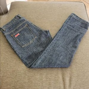 Marc Jacobs ankle straight leg jeans.